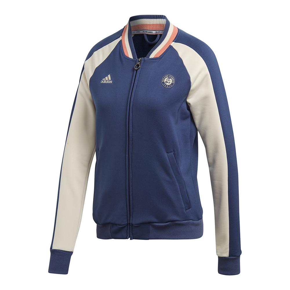 Women's Roland Garros Tennis Jacket Noble Indigo And Ecru Tint