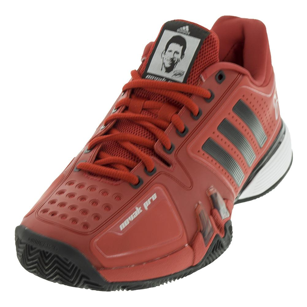 Men's Novak Pro Clay Tennis Shoes Real Red And Black