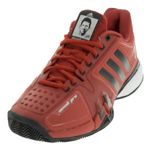 Men`s Novak Pro Clay Tennis Shoes Real Red and Black