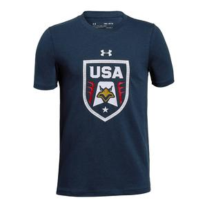Boys` USA Eagle Short Sleeve Tee Academy