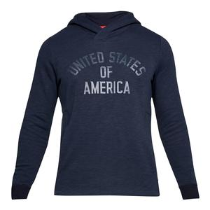 d2065d91fe55 SALE Men`s USA Fleece Pull Over Hoodie Midnight Navy