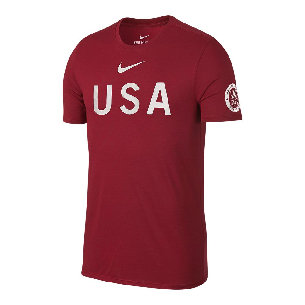 Men's Usa Tee Gym Red