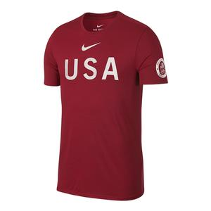 Men`s USA Tee Gym Red
