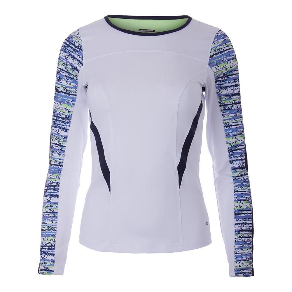 Women's Sorrento Long Sleeve Tennis Top White