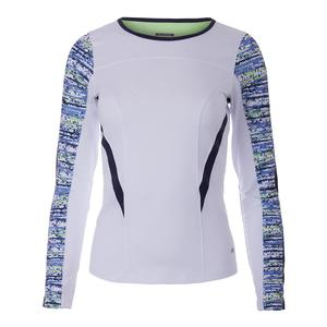Women`s Sorrento Long Sleeve Tennis Top White