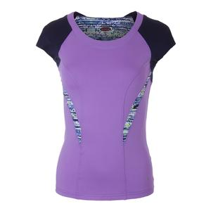 Women`s Sorrento Cap Sleeve Tennis Top Lavender