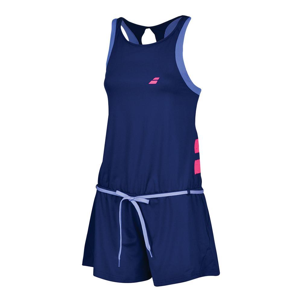 Women's Performance Tennis Romper Estate Blue