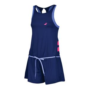 Women`s Performance Tennis Romper Estate Blue