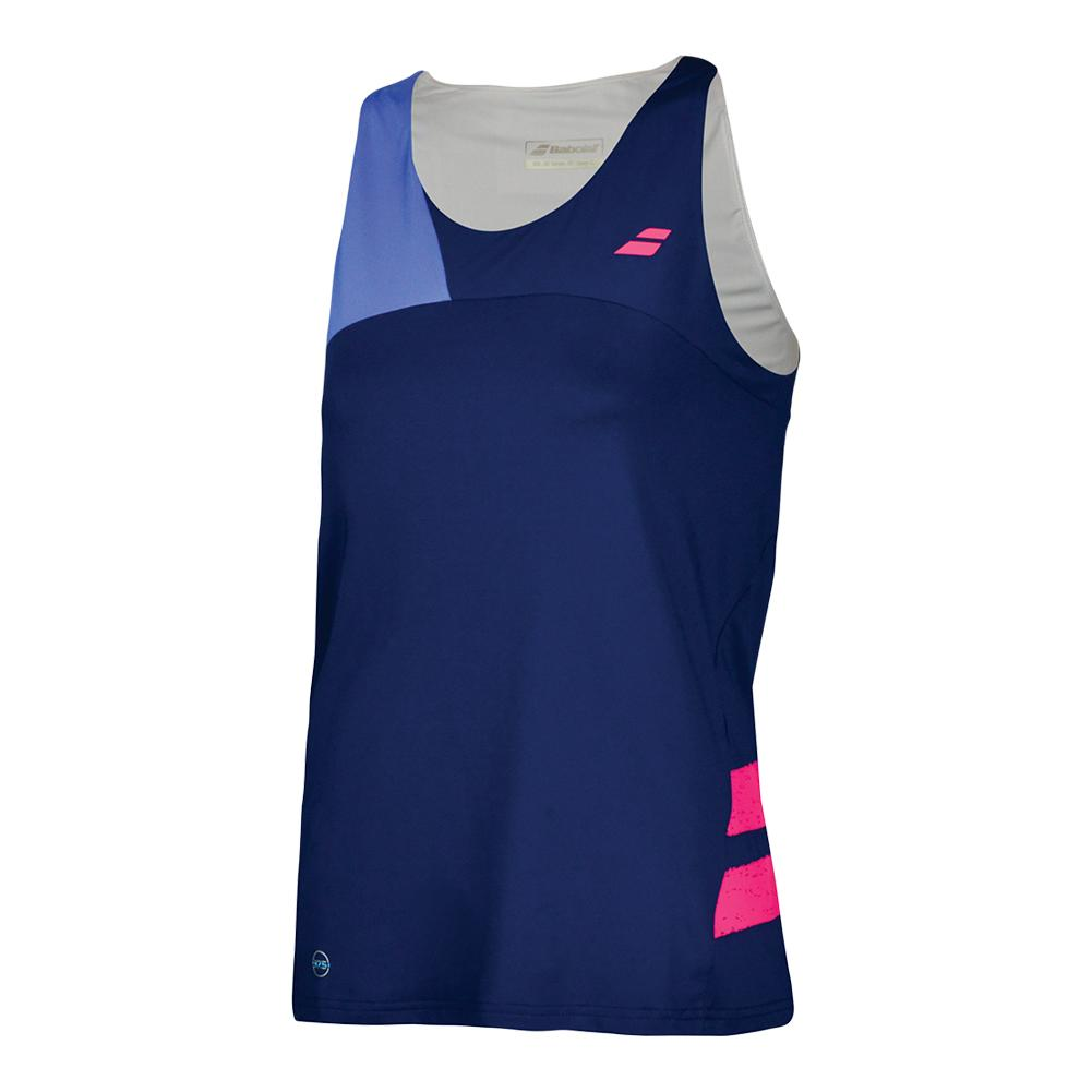 Women's Performance Tennis Tank Top Estate Blue And Wedgewood