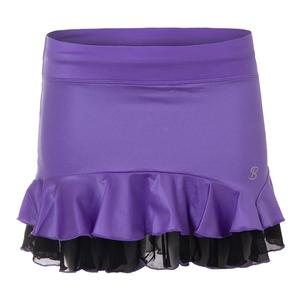 Women`s Glory 12 Inch Tennis Skort Metallic Purple