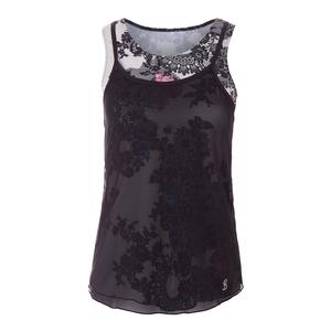 Women`s Overlay Tennis Tank Lace