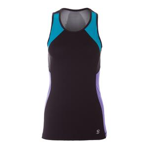Women`s Topspin Tennis Tank Black
