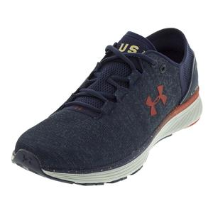 Men`s Charged Bandit 3 USA Shoes Midnight Navy and Glacier Gray
