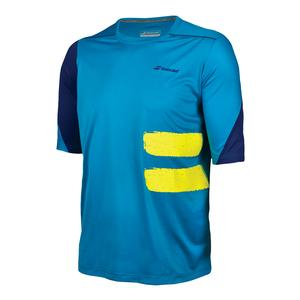 Men`s Performance Compression Tennis Tee Mosaic Blue