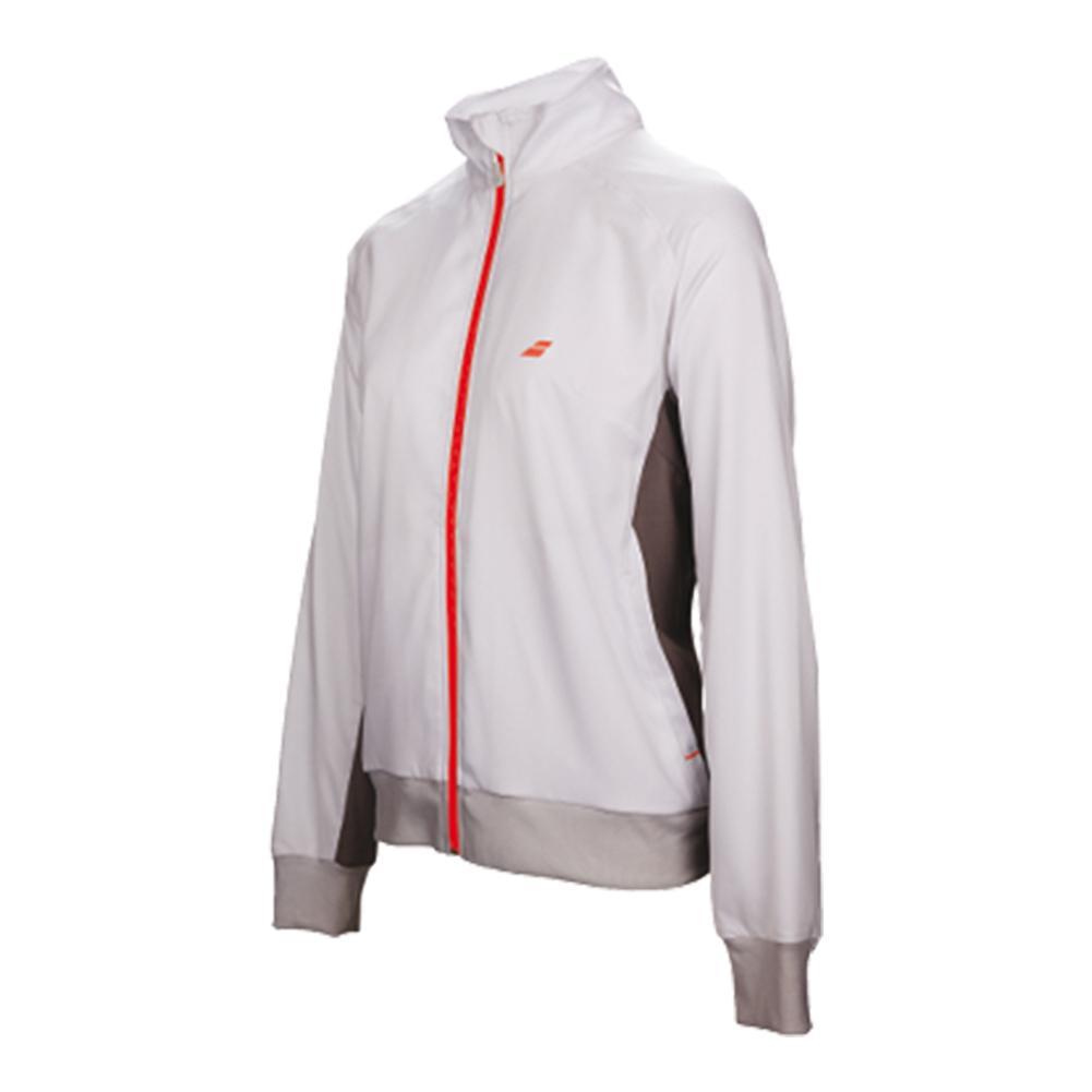 Girls ` Core Club Tennis Jacket White And Rabbit