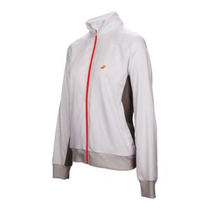 Girls` Core Club Tennis Jacket White and Rabbit