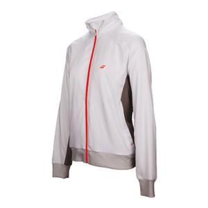 Girls` Core Club Tennis Jacket White and Rabbit