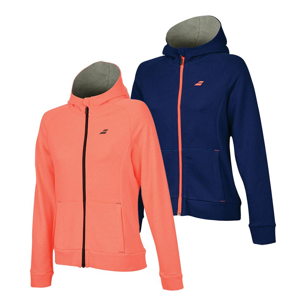 Girls ` Core Tennis Hood Sweat