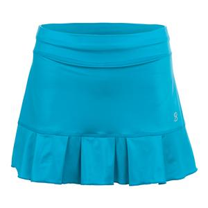 Women`s Match Point 13 Inch Tennis Skort Metallic Turquoise