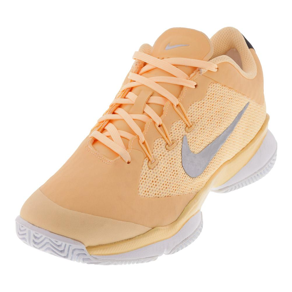 a4b86bdafdb7 Nike Women s Air Zoom Ultra Tennis Shoe in Tangerine Tint and White