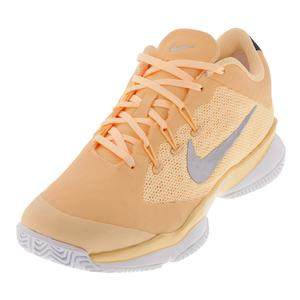 Women`s Air Zoom Ultra Tennis Shoes Tangerine Tint and White