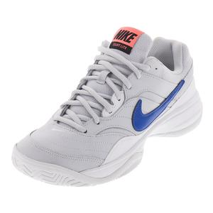 Women`s Court Lite Tennis Shoes Pure Platinum and Blue Nebula