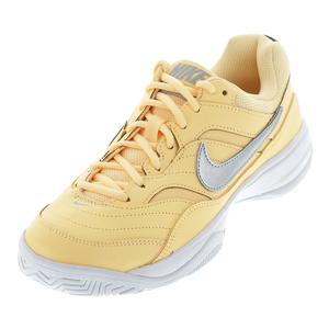 Women`s Court Lite Tennis Shoes Tangerine Tint and White