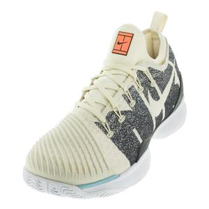 Men`s Air Zoom Ultra React Tennis Shoes Light Cream and Black