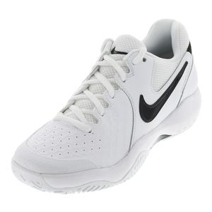 Men`s Air Zoom Resistance Tennis Shoes White and Black