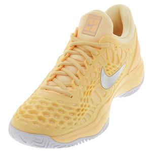 Women`s Zoom Cage 3 Tennis Shoes Tangerine Tint and White