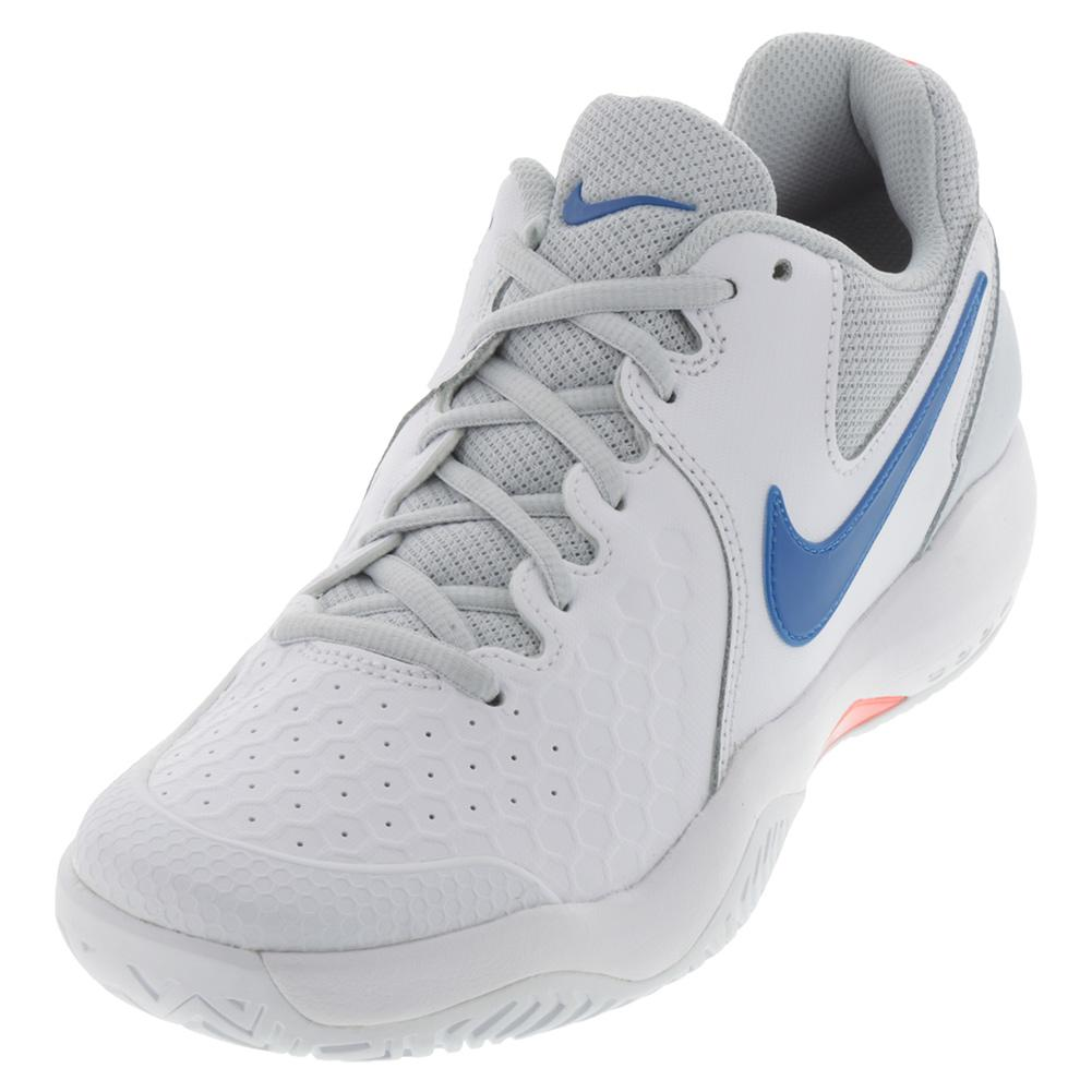 Women's Air Zoom Resistance Tennis Shoes White And Pure Platinum