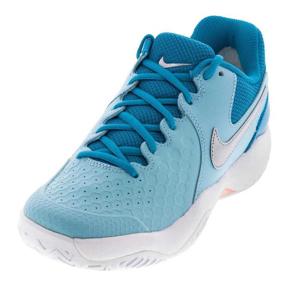 9e9a1e5e8 Nike Women s Air Zoom Resistance Tennis Shoes (Bleached Aqua ...