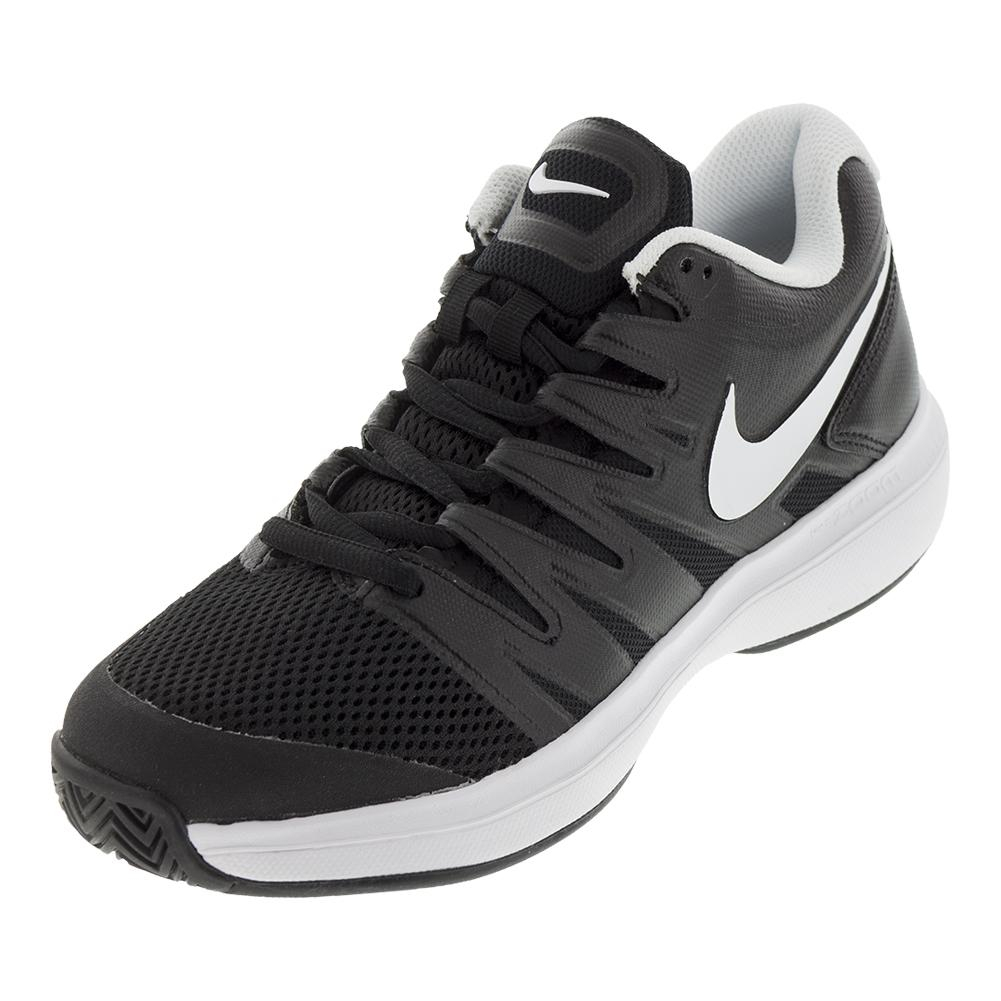 hot sale online e415d b1dfe NIKE NIKE Mens Air Zoom Prestige Tennis Shoes Black And White