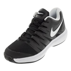 Men`s Air Zoom Prestige Tennis Shoes Black and White