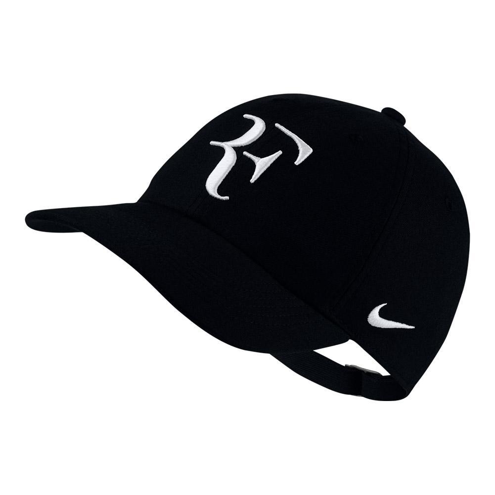 c75172b45eb Men`s Roger Federer Court Aerobill H86 Heritage Tennis Cap 010 BLACK