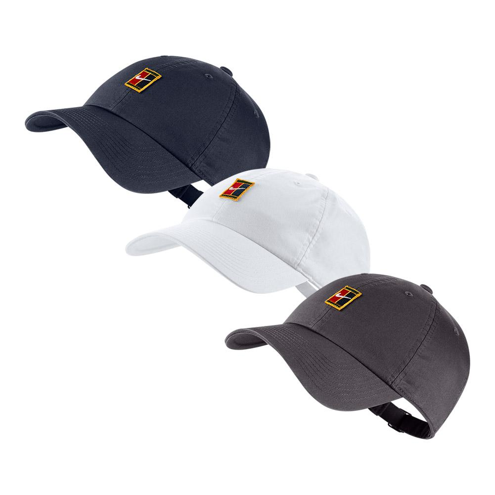 5139ec52f7f Nike H86 Court Logo Tennis Cap (Gunsmoke White Obsidian)