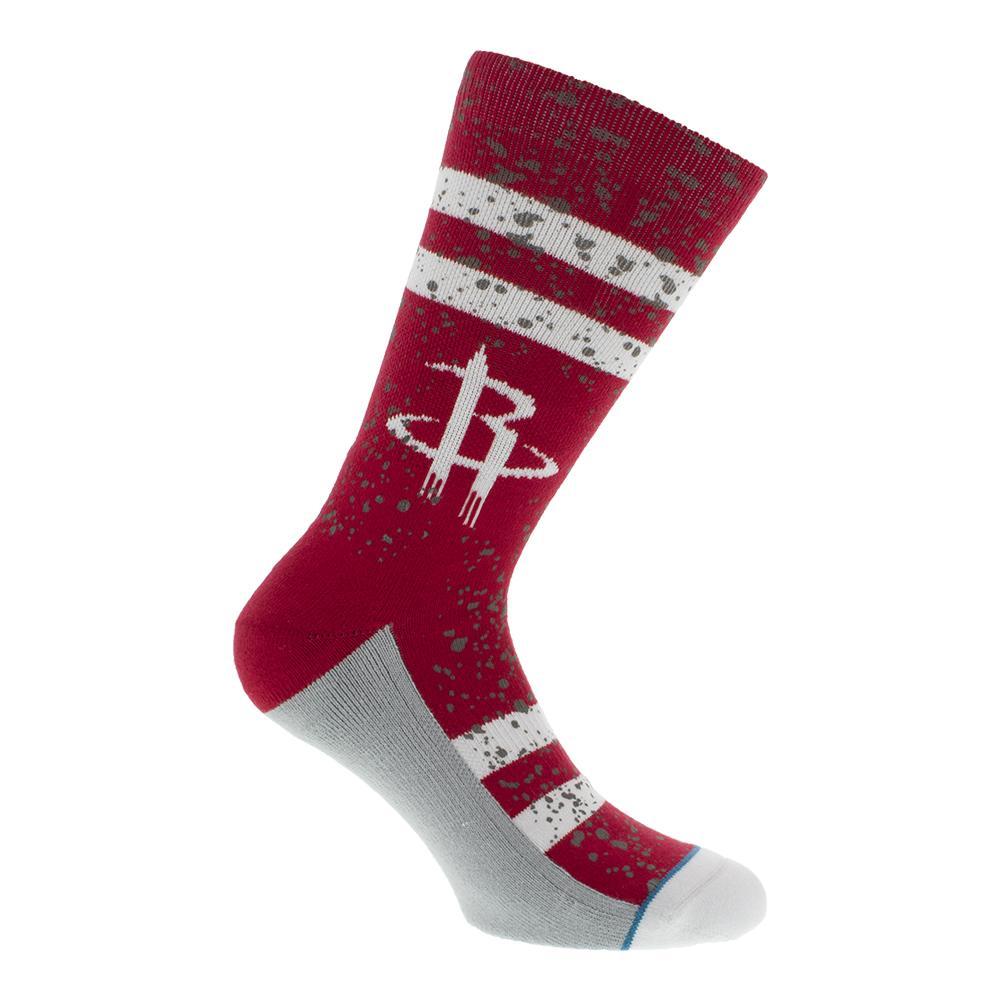 Men's Overspray Rockets Socks Large Red