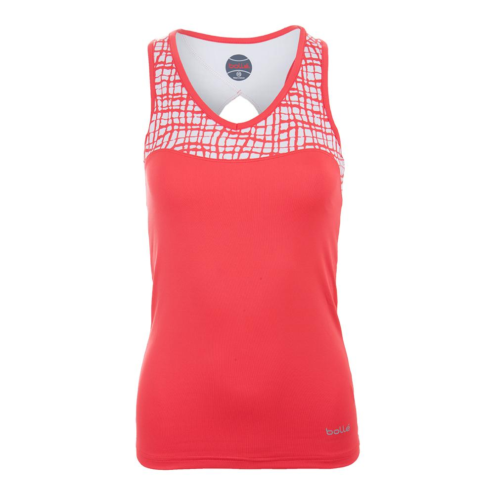 Women's Positano Racerback Tennis Top Coral