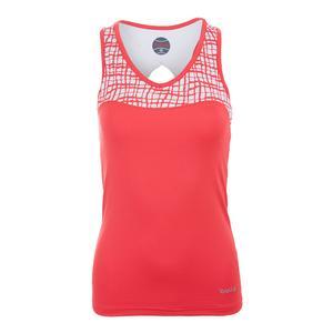 Women`s Positano Racerback Tennis Top Coral