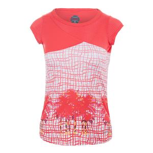 Women`s Positano Cap Sleeve Tennis Top Coral