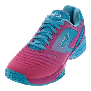 Women`s Axilus Energized Tennis Shoes Raspberry Rose and Blue Atoll