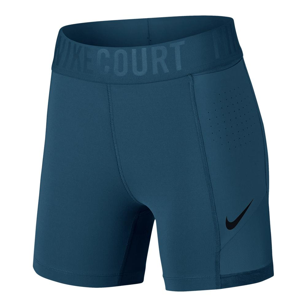 Women's Court Power 5 Inch Tennis Short Blue Force