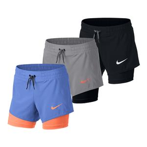 Girls` 2-In-1 Training Short