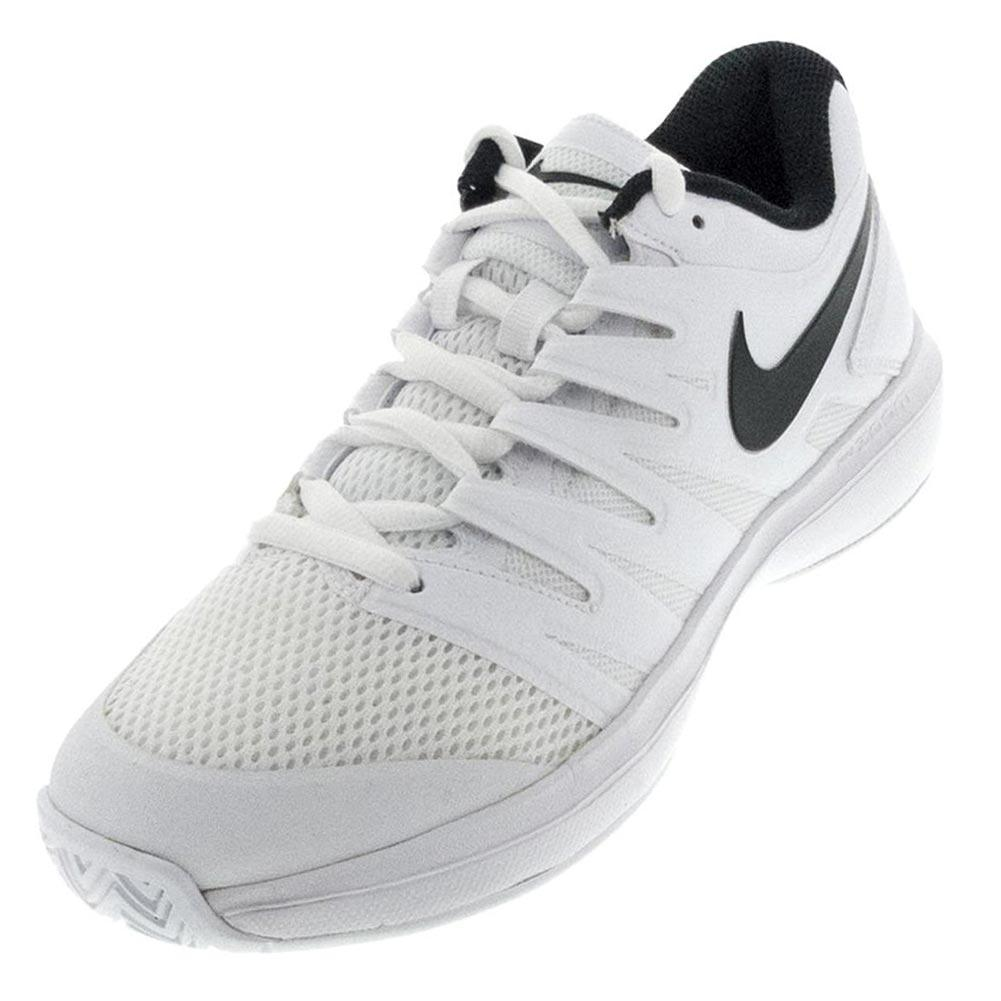Nike Men's Air Zoom Prestige Tennis Shoes (White/Black)