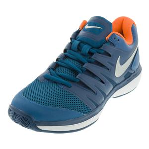 Men`s Air Zoom Prestige Tennis Shoes Green Abyss and Blue Force