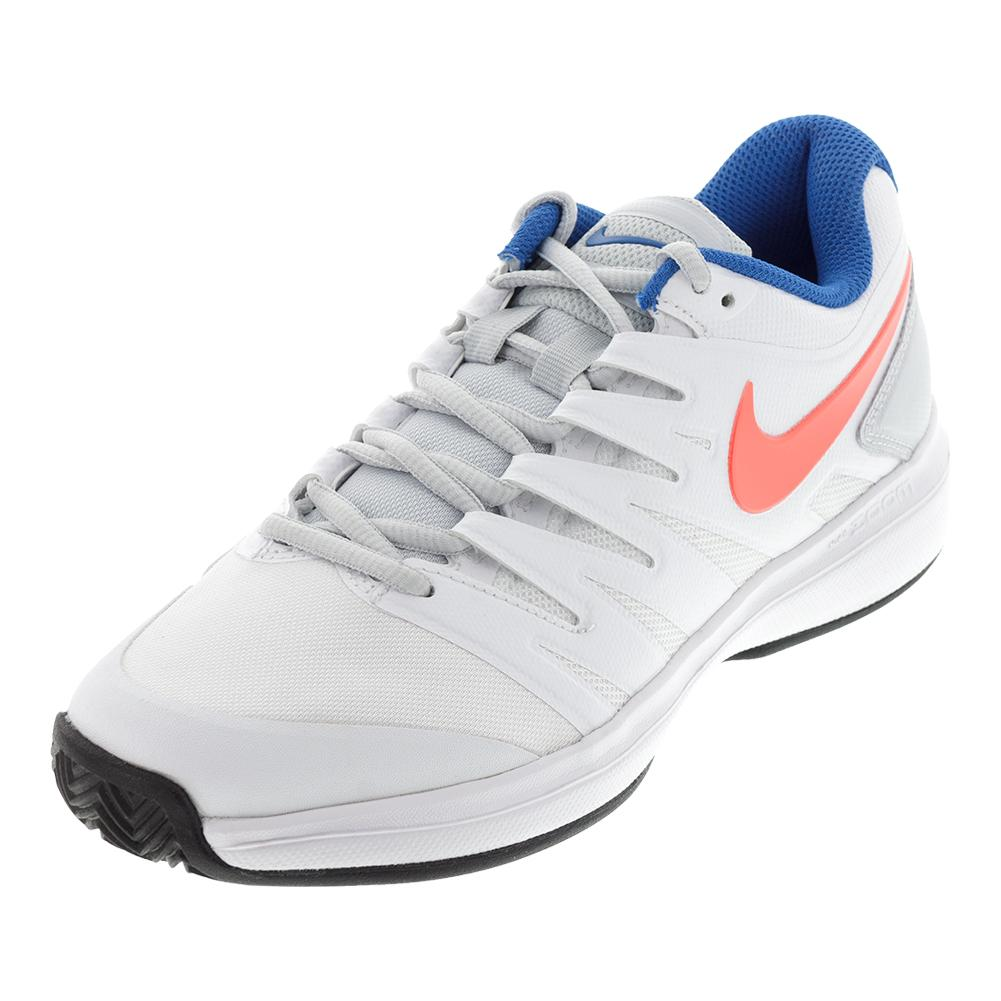 Women's Air Zoom Prestige Clay Tennis Shoes White And Hot Lava