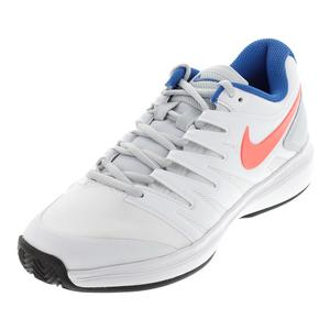 Women`s Air Zoom Prestige Clay Tennis Shoes White and Hot Lava