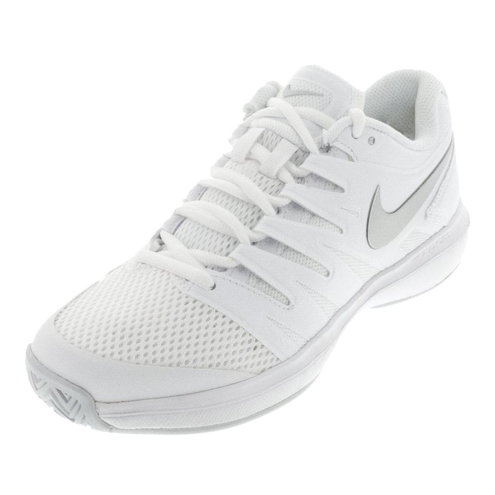 Women's Air Zoom Prestige Tennis Shoes White And Pure Platinum