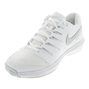 Women`s Air Zoom Prestige Tennis Shoes White and Pure Platinum