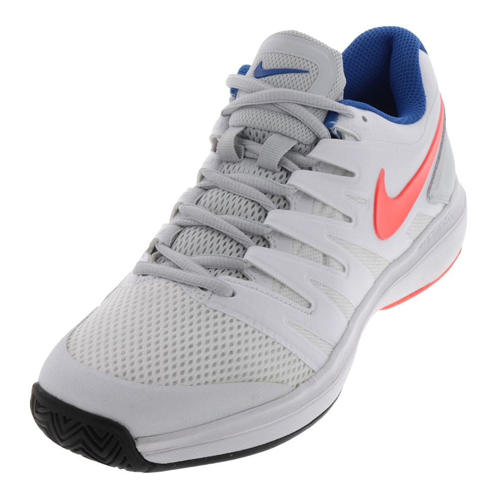 Women's Air Zoom Prestige Tennis Shoes White And Hot Lava